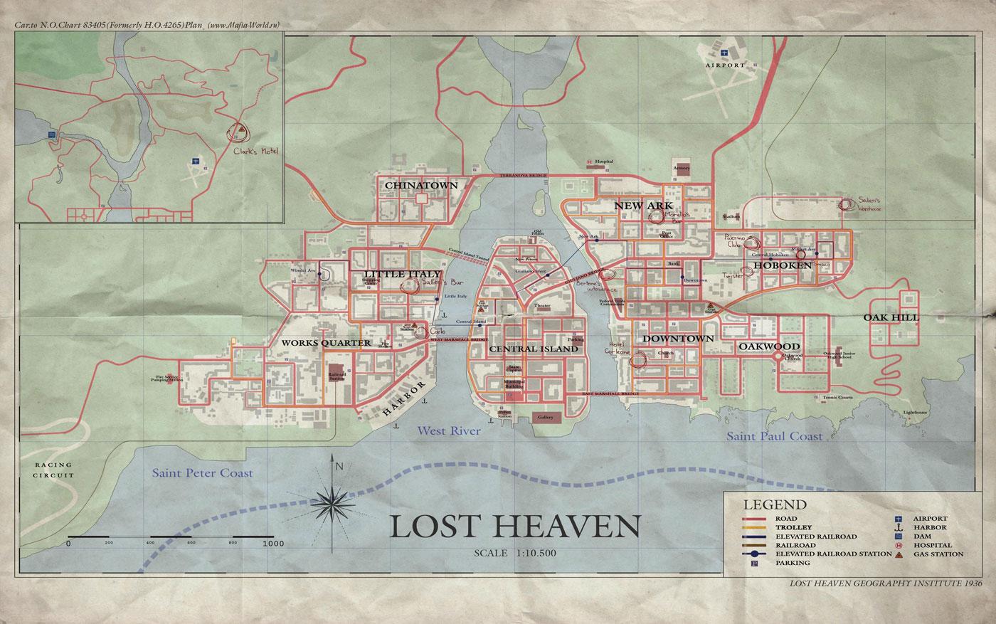 Карта на английском (оригинал)