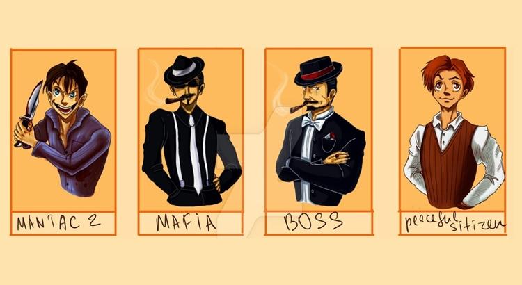 Карточки для игры в мафию на английском